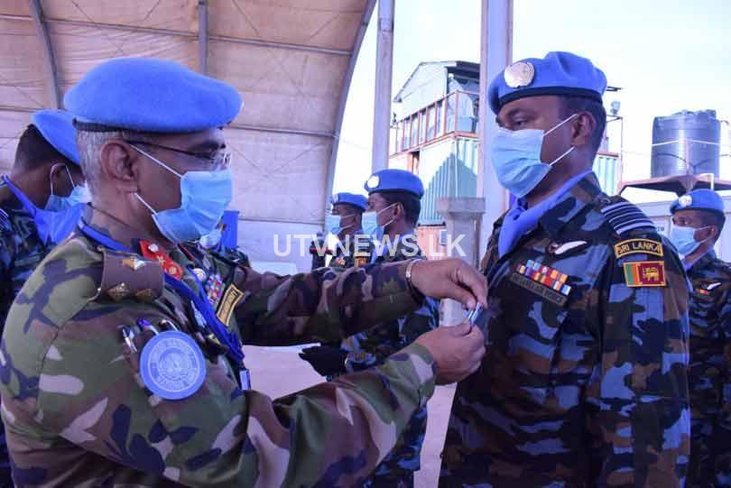 SL Aviation Unit in South Sudan receive UN medals